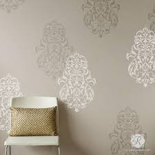 Bohemian Moroccan Decor With Large Wall Stencils