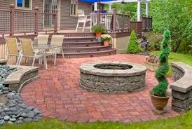 fire pit design ideas for a deck off patios deck and patio design