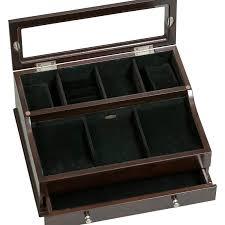 Mens Wooden Dresser Valet by Hampden Mens Glass Top Wooden Dresser Top Valet 11 75l X 9 63w