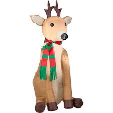 Walmart Halloween Blow Up Decorations by Gemmy Airblown Christmas Inflatables Reindeer 4 U0027 Walmart Com
