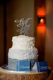 Rustic Chic Ruffle Cake From A Mountain Wedding On Karas Party Ideas
