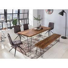 wohnling esszimmer bagli sitzbank massiv holz sheesham 180 x 45 x 40 cm holz bank natur produkt küchenbank im landhaus stil