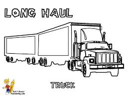 Truck Coloring Book Page