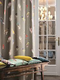 tissu en pour rideaux birds gallery collection paradise by