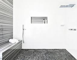 contemporary master bathroom with shower by