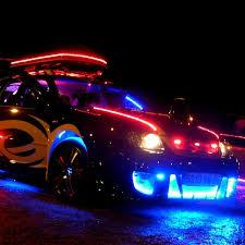 neon pour voiture exterieur led tuning auto orange bande led tuning de 2m50 ou 5m