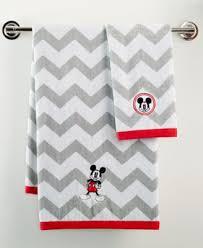Macys Mickey Mouse Bathroom Set by Mickey Chevron Bath Towel Bathroom Accessories Bed U0026 Bath Macy U0027s