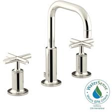 Kohler Bancroft Faucet Polished Nickel by Hansgrohe Axor Montreux 8 In Widespread 2 Handle Bathroom Faucet