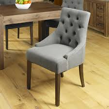 Upholstered Dining Chairs Set Of 6 by Baumhaus Shiro Walnut 6 Seater Table And Chair Set 4
