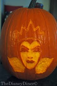 Tinkerbell Face Pumpkin Template by The Disney Diner Evil Queen Pumpkin Carving Template