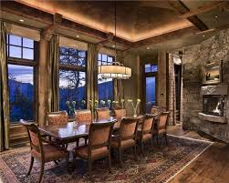 Dining Room Quartz Residence With Rug And Glass Windows Rustic Decorating Ideas Furniture