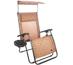Oversized Zero Gravity Recliner With Canopy by Bliss Hammocks Deluxe Xl Gravity Free Recliner With Canopy U0026 Tray