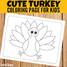 Free Turkey Coloring Page For Little Ones