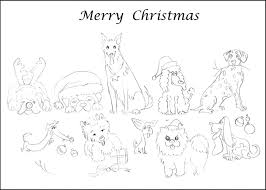 Christmas Cards Coloring Pages Of Merry And