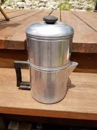 Vintage Drip O Lator Aluminum Coffee Maker Camping Kettle Pot Retro RV Kitchenware Supplies