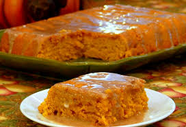 Cake Mix And Pumpkin Puree Muffins by Two Ingredient Pumpkin Cake With Apple Cider Glaze Noble Pig