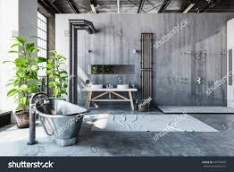 Best Bathroom Pot Plants by Stark Gray Bathroom Interior Converted Industrial Stock