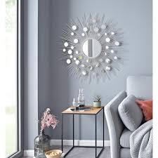 leonique dekospiegel spiegel rund mit dekorativen spiegelelementen