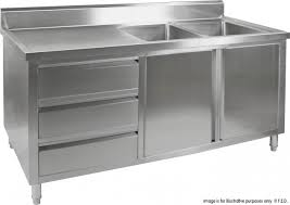stainless steel utility sink cabinet drop in single bowl prep or