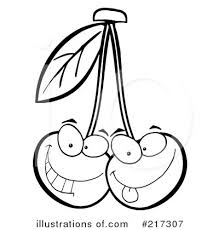 Royalty Free RF Cherries Clipart Illustration by Hit Toon