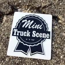 100 Mini Truck Scene Small Ribbon Stickers Low Label