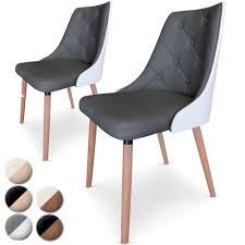 chaise simili cuir gris chaise bois et cuir le monde de léa