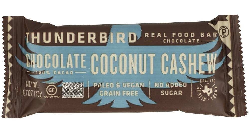 Thunderbird ENERGETICA: Chocolate Coconut Cashew Bar, 1.70 oz