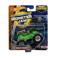 Kelebihan Mattel Hot Wheels Monster Jam Grave Digger With Team Flag ...