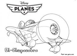 Printable Planes Movies El Chupacabra Coloring Page