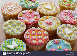 Highly Decorated Cupcakes Or Fairy Cakes