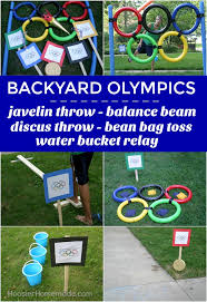 Bean Bag Toss And Water Bucket Relay BACKYARD OLYMPICS Get The Whole Family Involved In Olympic Games These Fun