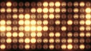 animation of light bulbs on led wall or projectors for