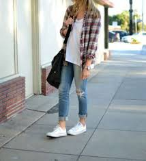 A Plaid Flannel Shirt Ripped Jeans And Chucks Definitely My Kind Of Outfit