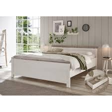 lomadox schlafzimmer set ferna 61 spar set 2 tlg doppelbett mit liegefläche 180x200 cm inkl bettkasten in pinie weiß nb mit absetzungen in