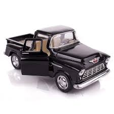 100 Chevy Stepside Truck Amazoncom Black 1955 PickUp Die Cast Collectible