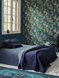pip studio floris tapete dunkel blau