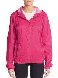 betsey johnson mesh paneled windbreaker jacket in pink lyst