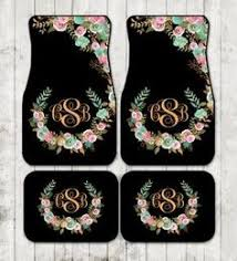 Realtree Floor Mats Mint by Cool Mint And Gold Floral Monogrammed Car Mats Classy Black