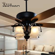 Buy American European Retro Living Room Dining Fan Lights Ceiling Light Minimalist Home Electric Chandelier Lamp Bedroom In Cheap Price On