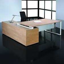 bureau en acier bureau de direction sur console bois et acier