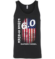 Power Stroke 6.0 USA Distressed Flag Tank Top | Truck Apparel ...