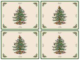 Balsam Christmas Trees Uk by Pimpernel Christmas Tree Placemats Set Of 4 Pimpernel Uk