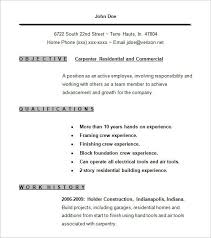 Carpenter Cover Letter Examples Inspirational Resume Template 9 Free Samples Format