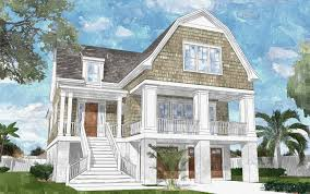100 Narrow Lot Home Coastal Beach House Plans On Pilings Lovely House Plans