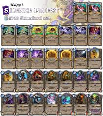 priest deck hearthstone silence priest by kripp not strong but hella hearthstone