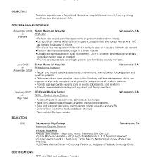 Sample Student Nurse Resume Example Nursing Internship