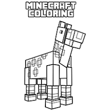 Printable Minecraft Horse Coloring Page