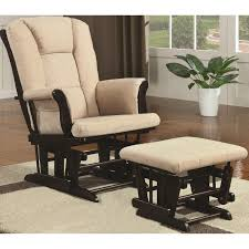 Dorel Rocking Chair With Ottoman by Furniture Upholstered Nursery Glider Rocker And Ottoman With