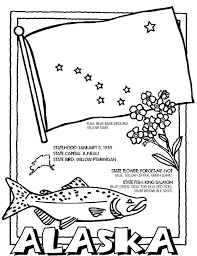 Alaska State Symbol Coloring Page By Crayola Print Or Color Online