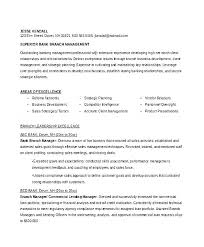 Teller Manager Resume Examples Good For Bank Sample Of General Banking Account